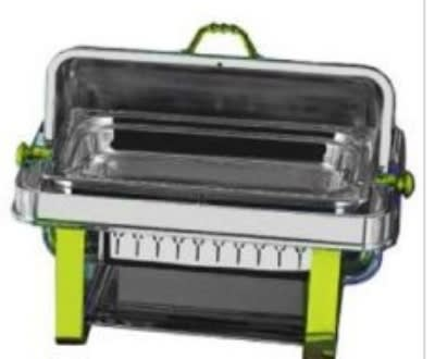 Bon Chef 14004 Full Size Chafer w/ Roll-top Lid & Chafing Fuel Heat
