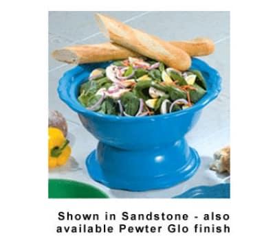 Bon Chef 150049059P 2-Qt, Soup/Salad Bowl Pedestal, Aluminum/ Pewter-Glo