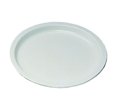 "Bon Chef 15008S WH 15"" Round Serving Tray, Aluminum/White"