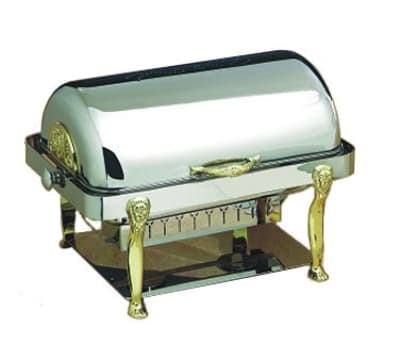 Bon Chef 18040 Full Size Chafer w/ Roll-top Lid & Chafing Fuel Heat