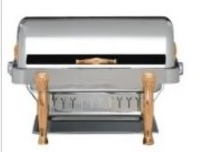 Bon Chef 18040G Full Size Chafer w/ Roll-top Lid & Chafing Fuel Heat