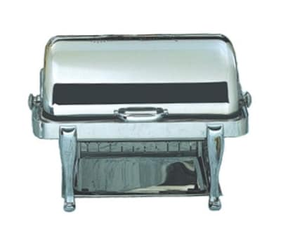 Bon Chef 19040CH Full Size Chafer w/ Roll-top Lid & Chafing Fuel Heat