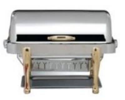 Bon Chef 19040G Full Size Chafer w/ Roll-top Lid & Chafing Fuel Heat