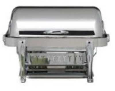 Bon Chef 19040S Full Size Chafer w/ Roll-top Lid & Chafing Fuel Heat