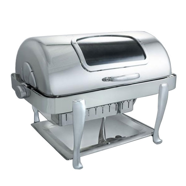Bon Chef 19041CH Full Size Chafer w/ Roll Top Lid & Chafing Fuel Heat