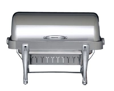 Bon Chef 19140CH Full Size Chafer w/ Roll-top Lid & Chafing Fuel Heat