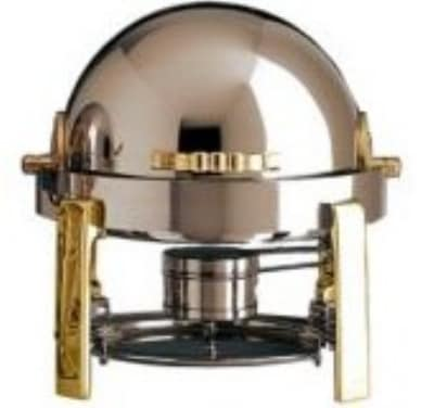 Bon Chef 20014G 3-Qt Chafer w/ Gold Plate, Contemporary