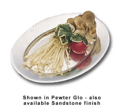 """Bon Chef 2009S WH Baked Potato Platter, 4.5 x 6.5"""", Aluminum/White"""