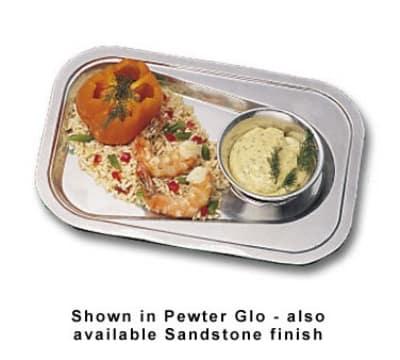 "Bon Chef 2018P Oblong Platter, 9 x 13-1/8"", Aluminum/Pewter-Glo"