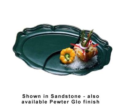 "Bon Chef 2028DP Divided Platter, 14.75 x 20"", Aluminum/Pewter-Glo"