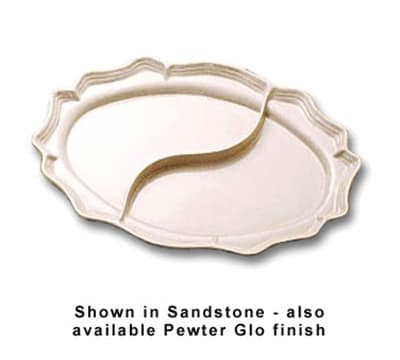 "Bon Chef 2029DP Divided Platter, 16.75 x 22"", Aluminum/Pewter-Glo"