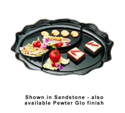 "Bon Chef 2030DP Divided Platter, 18.75 x 24"", Aluminum/Pewter-Glo"
