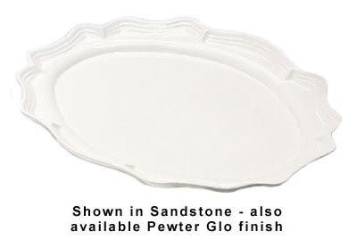 """Bon Chef 2031S WH Oval Platter, 19.75 x 30"""", Aluminum/White"""