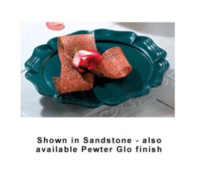 """Bon Chef 20363010S WH Round Pedestal Platter, 15-7/8"""", Aluminum/White"""