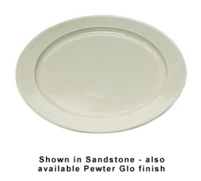 "Bon Chef 2049P 18"" Round Serving Tray, Aluminum/Pewter-Glo"
