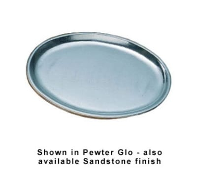 "Bon Chef 2060S BLK 10"" Oval Extra Heavy Weight Platter, Aluminum/Black"