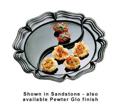 "Bon Chef 2062DP 20"" Round Divided Platter, Aluminum/Pewter-Glo"