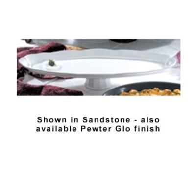 "Bon Chef 20639113P 28.5"" Shell Fish Pedestal Platter, Aluminum/Pewter-Glo"