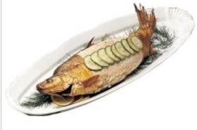 """Bon Chef 2065S WH Shell Fish Platter, 12 x 28"""", Aluminum/White"""