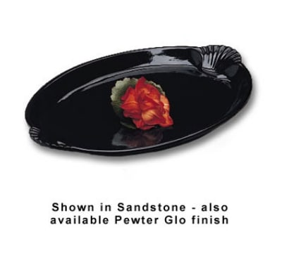 "Bon Chef 2074S BLK 22.5"" Shell Handle Platter, Aluminum/Black"