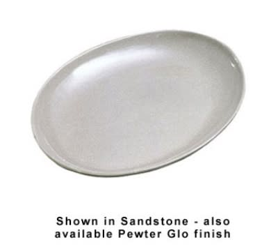 "Bon Chef 2077S WH 20"" Oval Coupe Platter, Aluminum/White"
