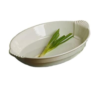 Bon Chef 2078S BLK 4-qt Oval Casserole Dish w/ Shell Handle, Aluminum/Black