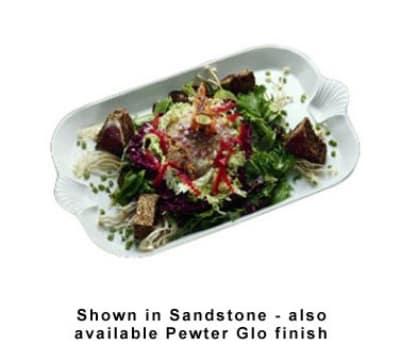 "Bon Chef 2095P 22"" Platter w/ Shell Handle, Aluminum/Pewter-Glo"