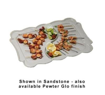 """Bon Chef 2098DS WH 26"""" Divided Platter, Aluminum/White"""