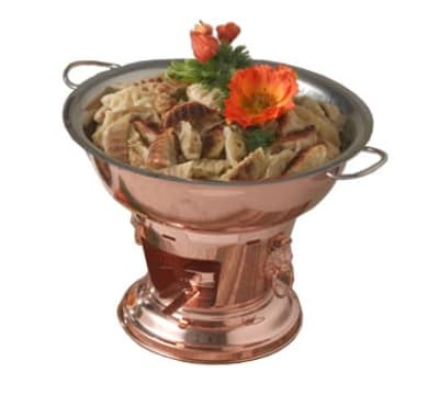 Bon Chef 21001 5-Qt Wok Set w/ Fuel Holder, Copper