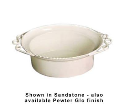 Bon Chef 2103S WH 11-qt Salad Bowl, Aluminum/White