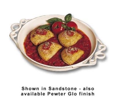 "Bon Chef 2107P 16"" Diameter Platter, Aluminum/Pewter-Glo"