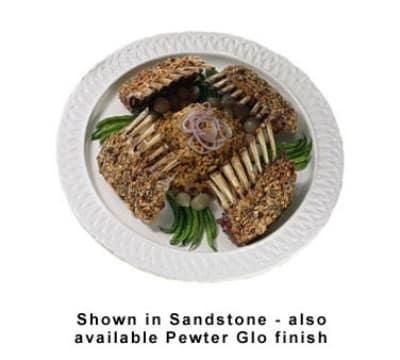 "Bon Chef 2301S BLK 18"" Round Platter, Aluminum w/ Black"