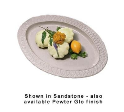"Bon Chef 2304S BLK 22.5"" Oval Platter, Aluminum/Black"