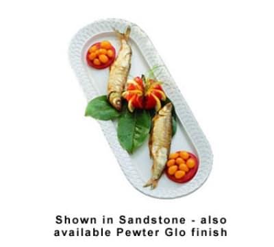 """Bon Chef 2311S WH Fish Platter, 22-5/8"""", Aluminum/White"""