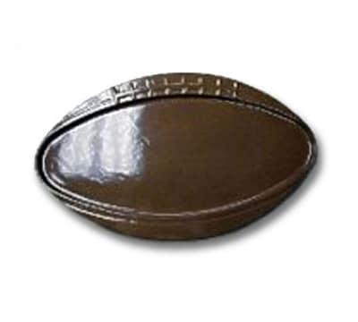 """Bon Chef 2501S WH 25-5/8"""" Oval Football Platter, Aluminum/White"""