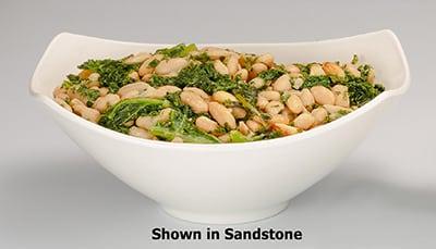 "Bon Chef 2512S 9.75"" Aluminum Gondola Bowl w/ Sandstone Finish"