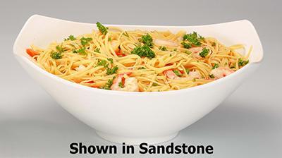 "Bon Chef 2514S 13.75"" Aluminum Gondola Bowl w/ Sandstone Finish"