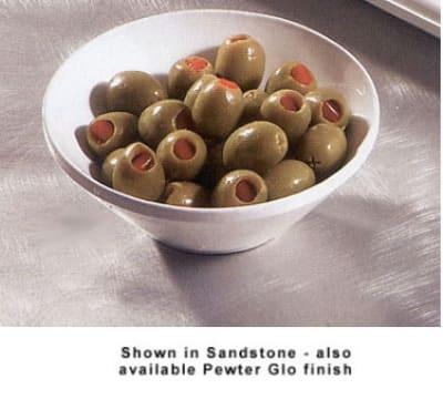 """Bon Chef 2710P 5.5"""" Slant Bowl, Aluminum/Pewter-Glo"""