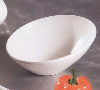 """Bon Chef 2711S WH 8.5"""" Slant Bowl, Aluminum/White"""