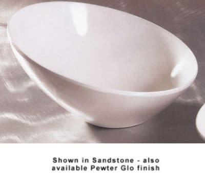 """Bon Chef 2712P 12"""" Slant Bowl, Aluminum/Pewter-Glo"""