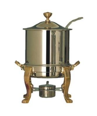 Bon Chef 30001HLCH 8-QT Marmite/Soup Tureen w/ Hinged Lid, Chrome
