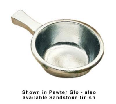 Bon Chef 3009S BLK 12-oz Soup Bowl w/ Handle, Aluminum/Black