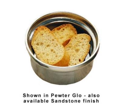 Bon Chef 3010S WH 10-oz Soup Bowl, Aluminum/White