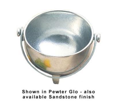 Bon Chef 3030S WH 9-oz Kettle-Style Soup Bowl, Aluminum/White