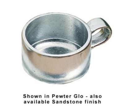 Bon Chef 3033S WH 10-oz Soup Cup w/ side Handle, Aluminum/White