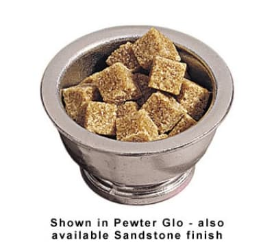 Bon Chef 4001P 5-oz Sugar Bowl, Aluminum w/ Pewter-Glo