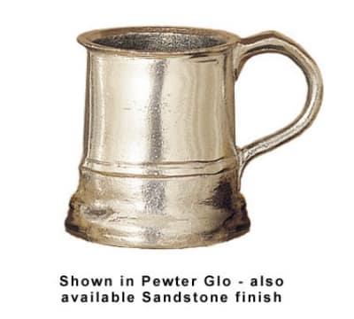 Bon Chef 4006P 16-oz Beat Up Mug, Aluminum/Pewter-Glo
