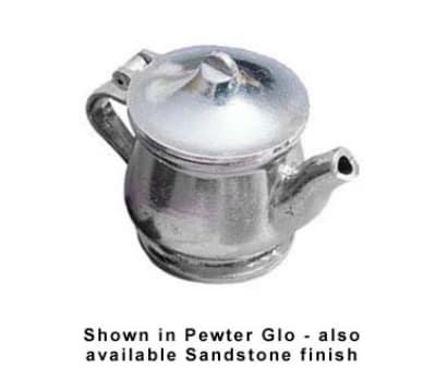 Bon Chef 4024P 11-oz Teapot w/ Insulated Handle, Aluminum/Pewter-Glo
