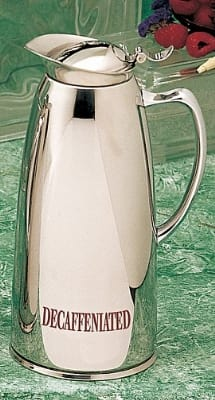 Bon Chef 4054DECAF 1.5-qt Insulated Pitcher Server w/ Decaffeinated Crest, Stainless
