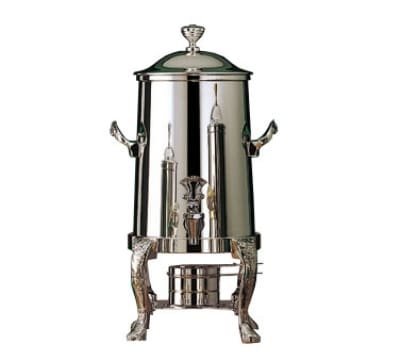 Bon Chef 47103 3.5-Gallon Coffee Urn Server, Solid Fuel, Renaissance